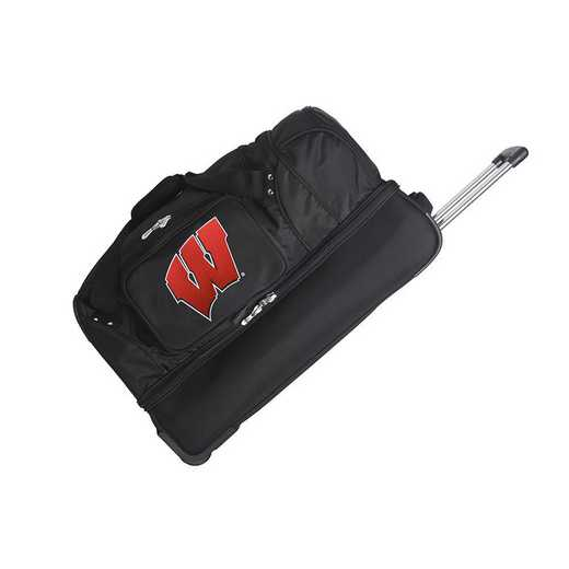 CLWIL300: NCAA Wisconsin Badgers 27IN WHLD Duffel Nylon bag